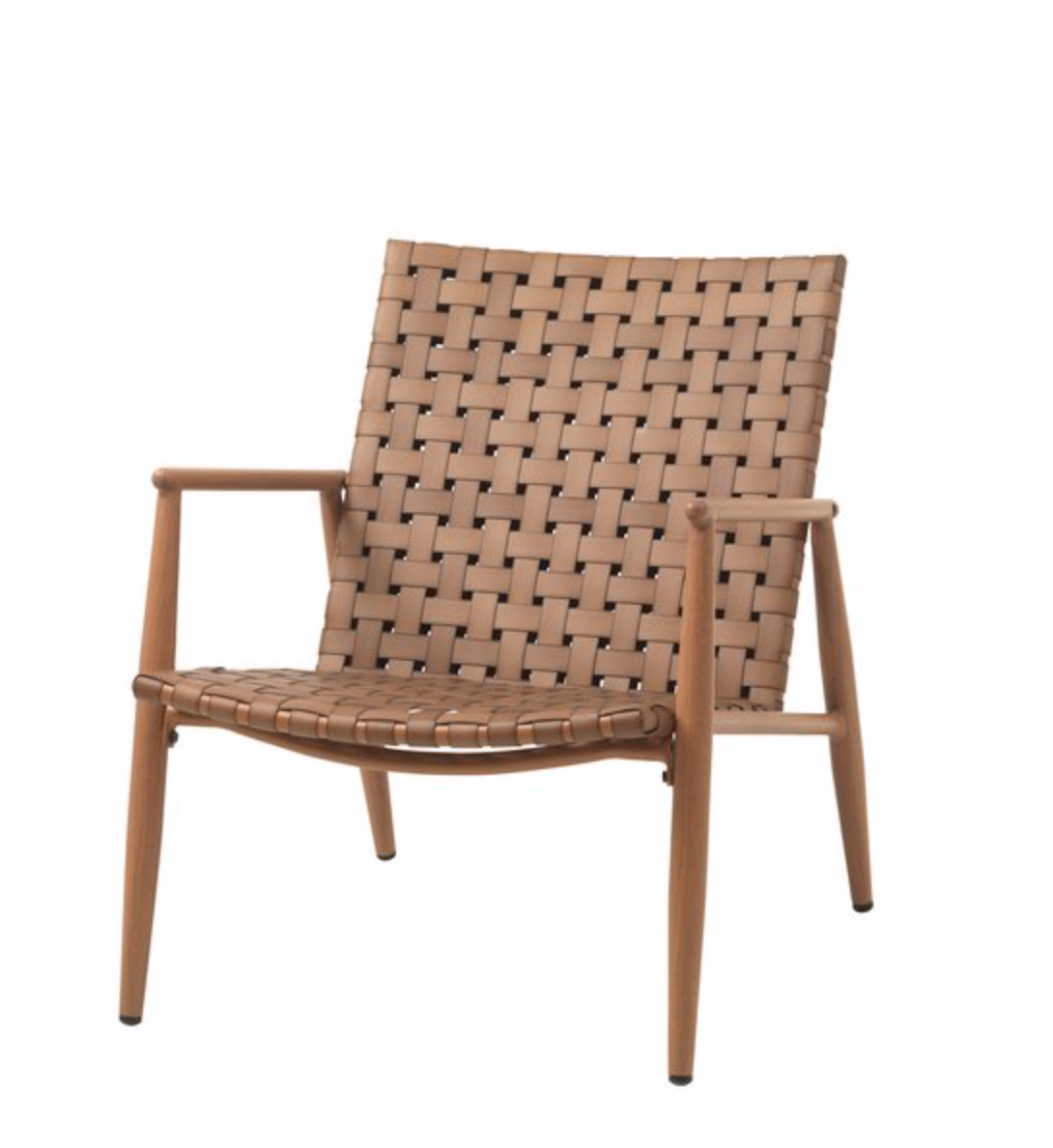 Woven scandi style outdoor lounge chair
